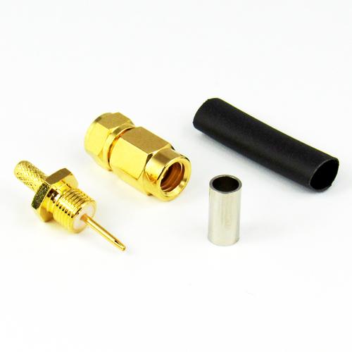 CX3188 SMC Male Connector RG316 RG174 LMR100 S Steel Crimp Solder Centric RF