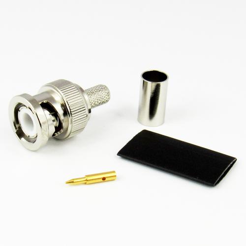 CX2407 BNC Male Connector LMR240 Brass Centric RF