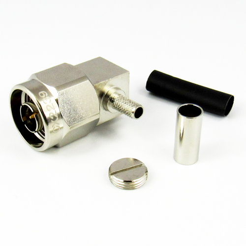 CX2239 N Male R Angle Connector for RG223 Cable Brass Centric RF