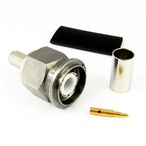 CX2405 TNC Male Connector LMR240 Solder Crimp Centric RF