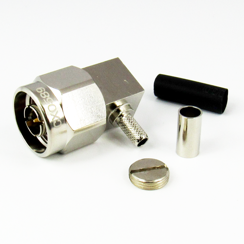 CX0589 N Male R Angle Connector for RG58 Cable Brass Centric RF