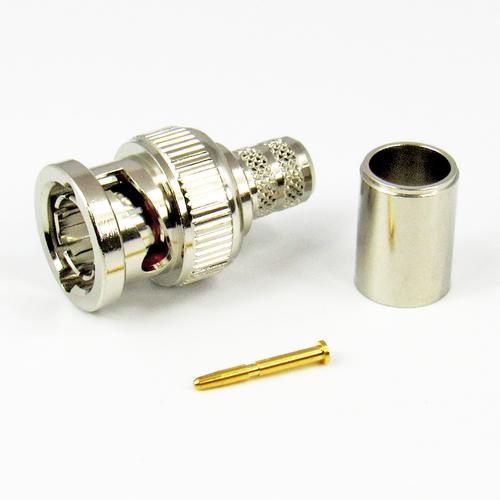 CX7531 BNC Male Connector RG6 Plennum or Belden 1694A Crimp 75Ohm Centric RF