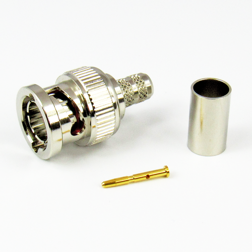 CX7548 BNC Male Connector RG-59/U 23AWG Belden 8241 Crimp 75Ohm Centric RF