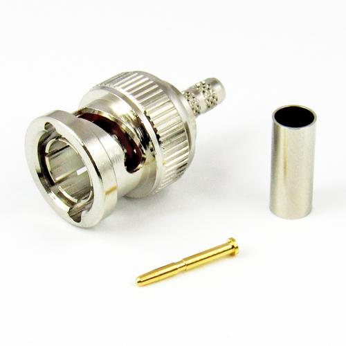 CX7554 BNC Male Connector Belden 8218 Crimp 75Ohm Centric RF