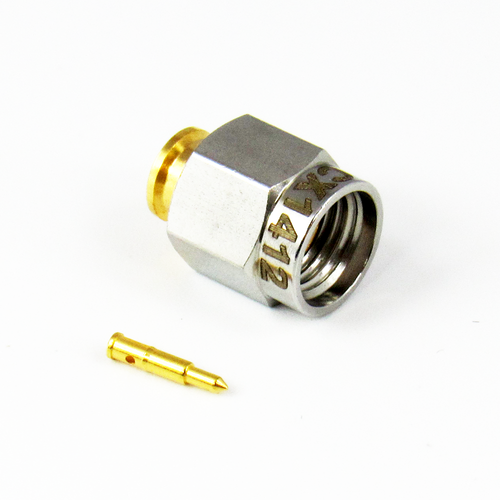 CX1412 SMA Male Solder .141 Cable S Steel Nut Brass Body Connector Centric RF