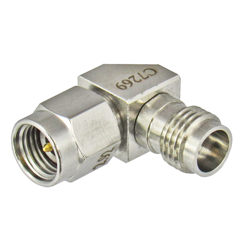 C7269 2.92mm Male to 2.4mm Female Adapter Right Angle VSWR 1.15 40Ghz Centric RF