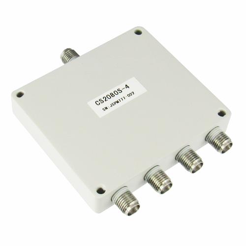 CS2080S-4 SMA Power Divider 4-way 2-8Ghz S Steel SMA Centric RF
