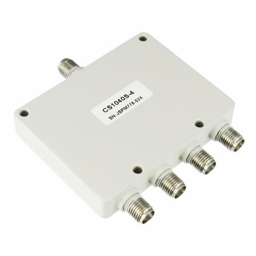 CS1040S-4 SMA Power Divider 4-way 1-4Ghz S Steel SMA Centric RF