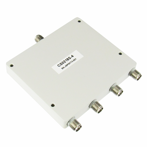 CS0218S-4 SMA Power Divider 4-way 2-18Ghz S Steel SMA Centric RF