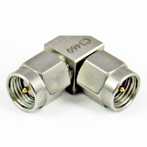 C3460 SMA Right Angle Adapter Male to Male Centric RF