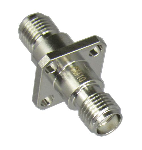 C3110 SMA/Female to SMA/Female 4 Hole Flange Adapter Centric RF