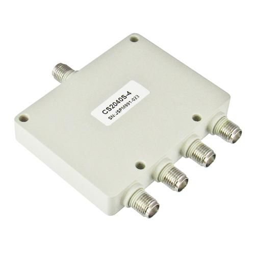 CS2040S-4 SMA Power Divider 4-way 2-4Ghz S Steel SMA Centric RF