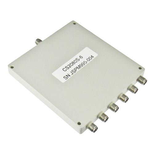 CS2080S-6 SMA Power Divider 6-way 2-8Ghz S Steel SMA Centric RF