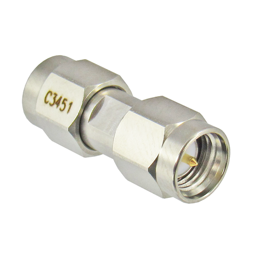 C3451 SMA Male to Male Adapter 18ghz Centric RF