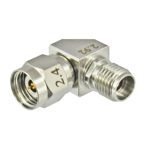 C7258 2.92mm Female to 2.4mm Male Adapter Right Angle Centric RF