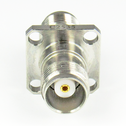 C2535 TNC 4 Hole Flange Adapter 18Ghz Female to Female  VSWR 1.15 S Steel