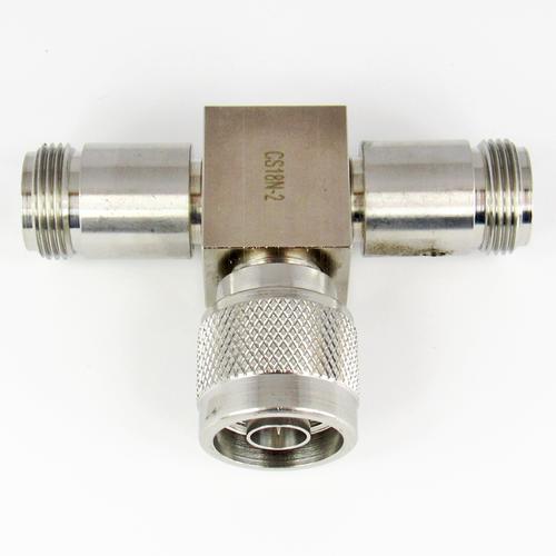 CS18N-2 N/Female/Male/Female 2 Way Resistive Power Divider Centric RF