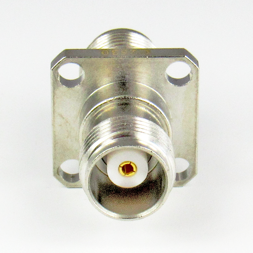 C2530 TNC 4 Hole Flange Adapter 11Ghz F/F  VSWR 1.2 Brass 50 OHM