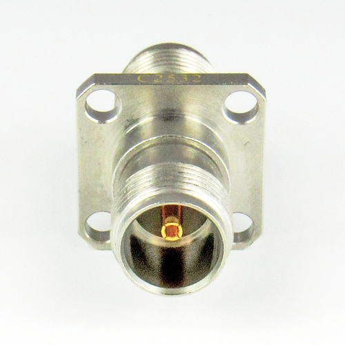 C2532 TNC 4 Hole Flange Adapter 3Ghz F/F  VSWR 1.2 Brass 75 OHM