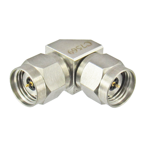 C7569 2.4mm Male to 2.4mm Male Right Angle Adapter Centric RF