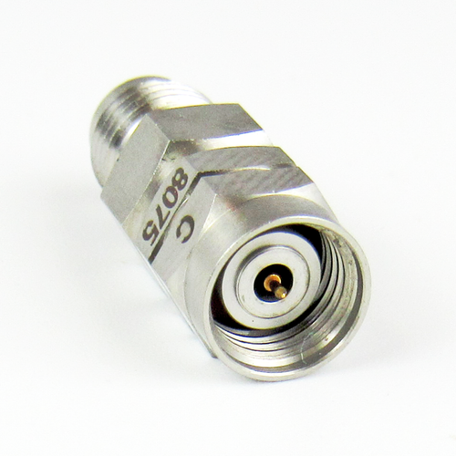 C8075 1.85mm Adapter Male to Female VSWR 1.25 Max  67Ghz
