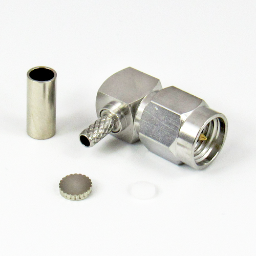CX3166 SMA Male Right Angle Crimp Connector Centric RF