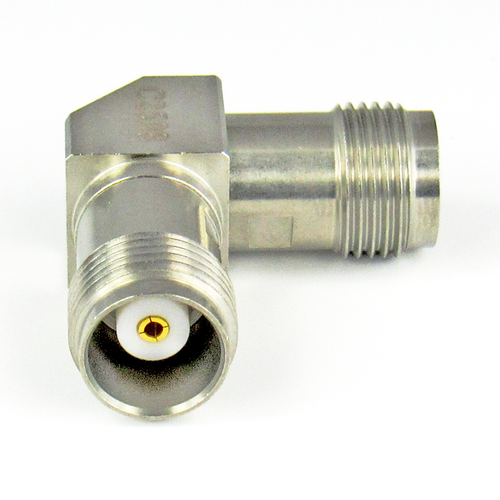 C2508 TNC Right Angle Adapter 18Ghz Female to Female VSWR 1.2 S Steel