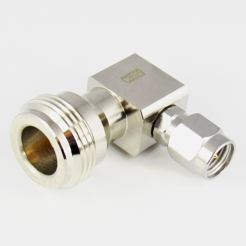 C3529 SMA Male to N Female R Angle Adapter Centric RF