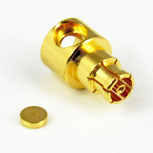 CX4615 MiniSMP 086 Female Right Angle Cable Connector Centric RF