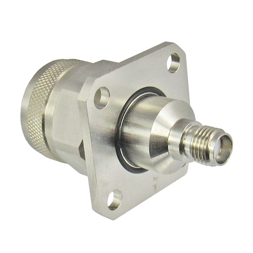 C3694 SMA Female to N Male Flange Adapter Centric RF