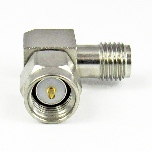 C3225B SMA Right Angle Adapter Male to Female 6Ghz VSWR 1.15  S Steel