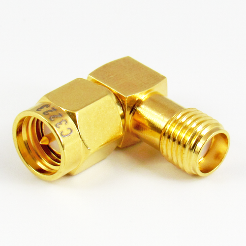 C3223 SMA M/F Right Angle Adapter Centric RF