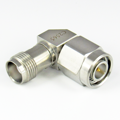C2565 TNC Right Angle Adapter 18Ghz Male to Female Centric RF