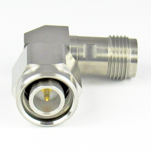 C2565 TNC Right Angle Adapter 18Ghz Male to Female VSWR 1.2  S Steel