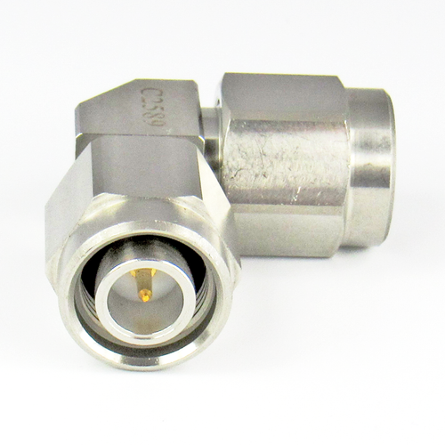 C2589 TNC Right Angle Adapter 18Ghz Male to Male  VSWR 1.2 S Steel