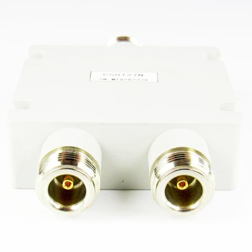 CS0727N 2-Way N Female Power Divider 698-2700 MHz VSWR 1.35i/1.3o 10 Watt