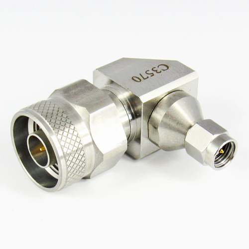 C3570 SMA Male to N Male R Angle Adapter Centric RF