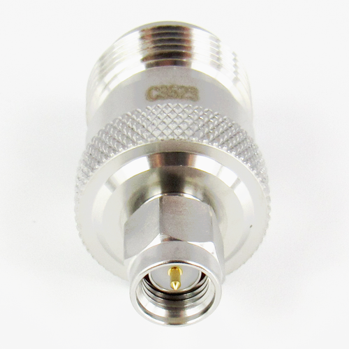 C3523 SMA Male to N Female Adapter 11Ghz VSWR 1.15 S Steel