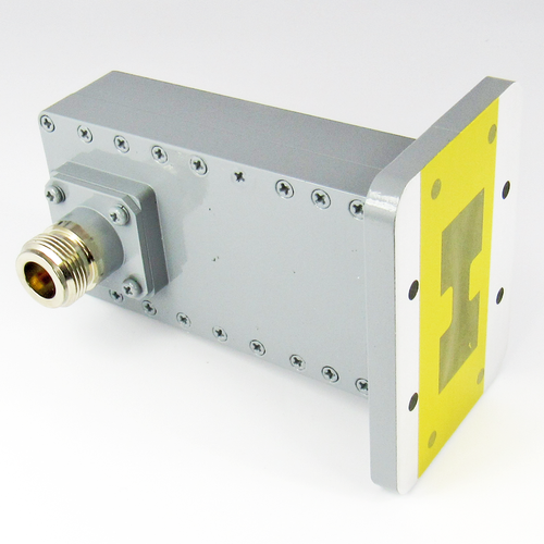 CWRD350N Double Ridge N Waveguide to Coax Adapter Centric RF