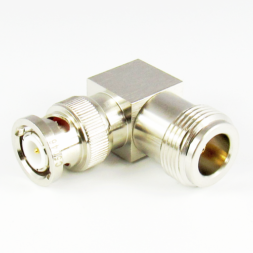 C5046 N Female to BNC Male Right Angle Adapter Centric RF