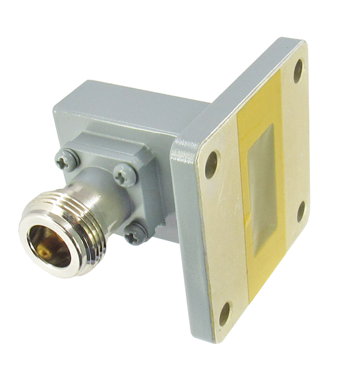 CWR90NC WR90 to N Waveguide to Coax Adapter Centric RF