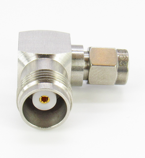 C2663 SMA Male to TNC Female Right Angle Adapter 6Ghz VSWR 1.2 S Steel