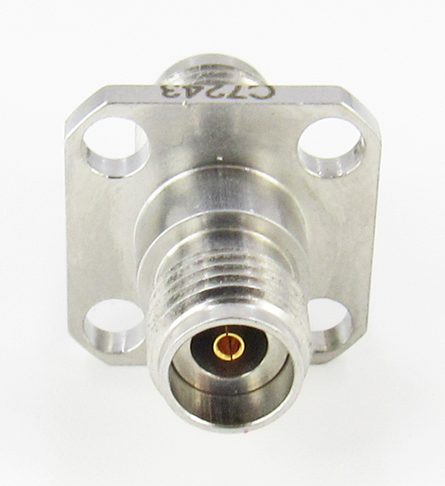 C7243 2.92mm Female to 2.4mm Female Flange Adapter VSWR 1.2 40Ghz