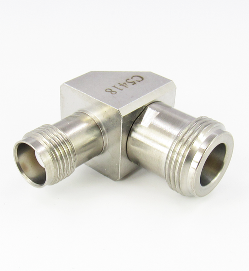 C5418 N Female to TNC Female Right Angle Adapter Centric RF