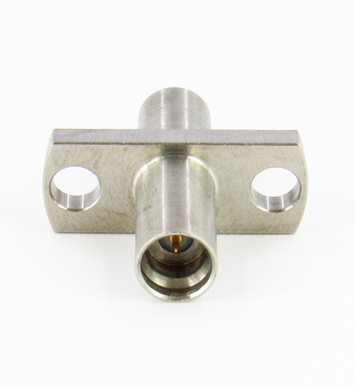 C4125 SMP Male/Full Detente to SMP Male/Smooth Bore 2 Hole Flange 27 Ghz