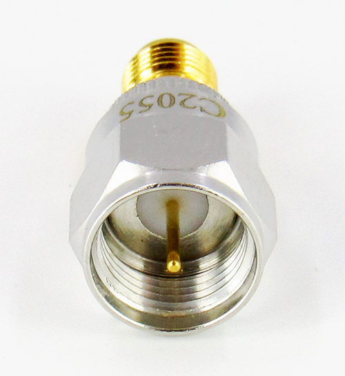 C2055 SMA Female 50OHM - F Male 75OHM 2GHZ Mismatch Brass
