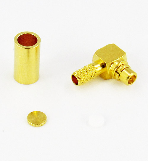 CX4811 MMCX/Male Right Angle Connector Brass Centric RF