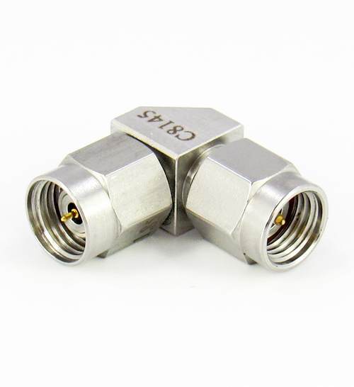 C8145 1.85mm Male to 2.92mm Male Right Angle Adapter Centric RF