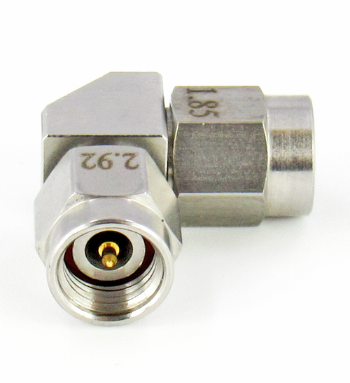 C8145 1.85mm Male to 2.92mm Male Right Angle Adapter VSWR 1.15 40Ghz S Steel