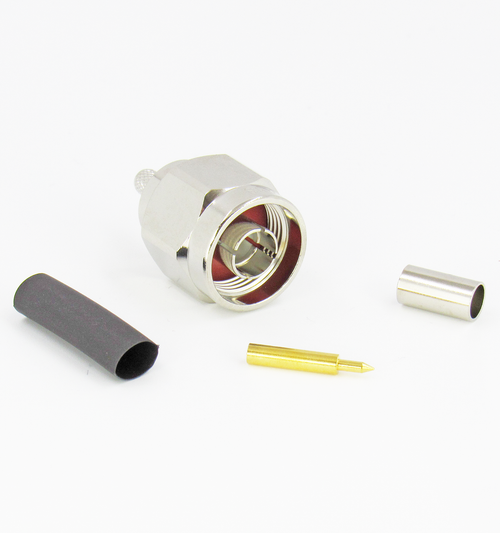CX1953 N Male Connector for LMR195 Cable Brass